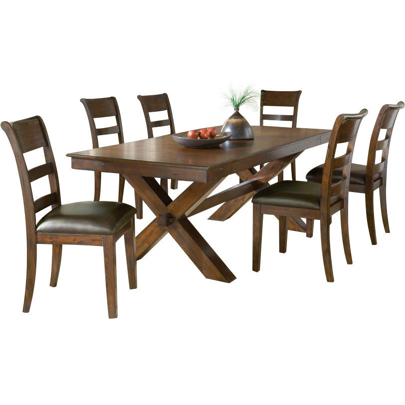 Solid Teak Wood Dining Set - Dollis Hill - large - 1