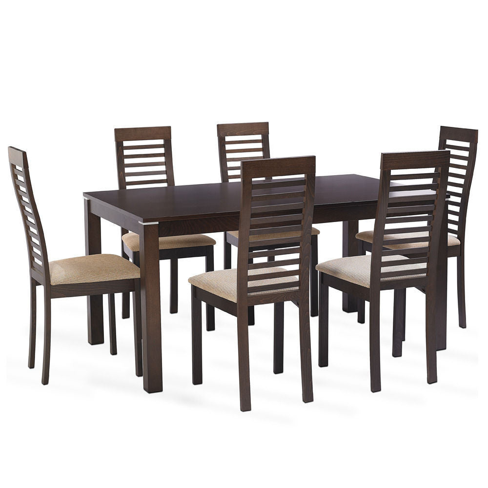 Solid Teak Wood Dining Set - Elm Park - large - 1