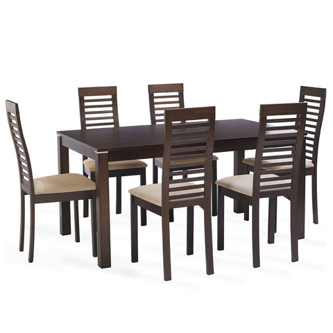 Solid Teak Wood Dining Set - Elm Park - 1