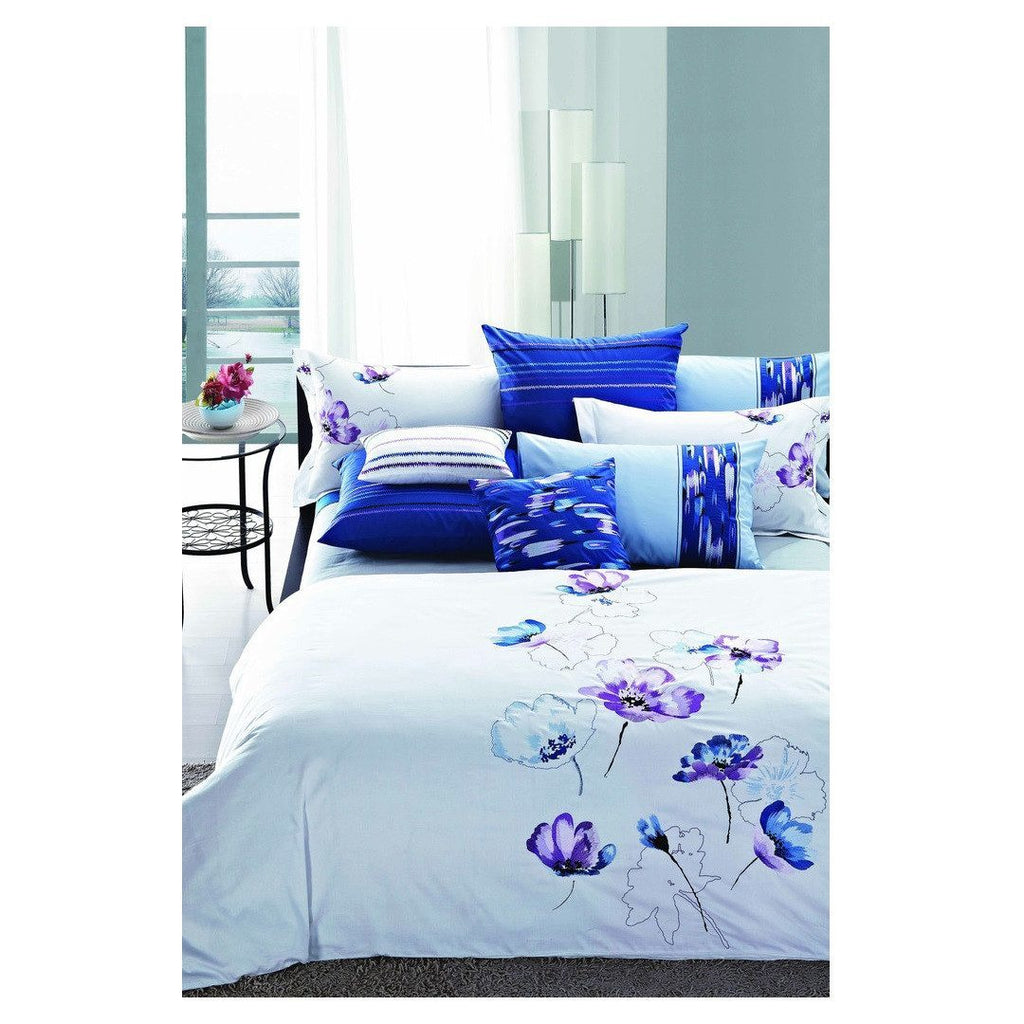 Luxury Duvet Cover Blue Floral Nirvana - large - 1