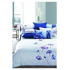 Luxury Duvet Cover Blue Floral Nirvana