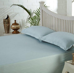 Satin Stripe Duvet Cover - 300 TC Green Light