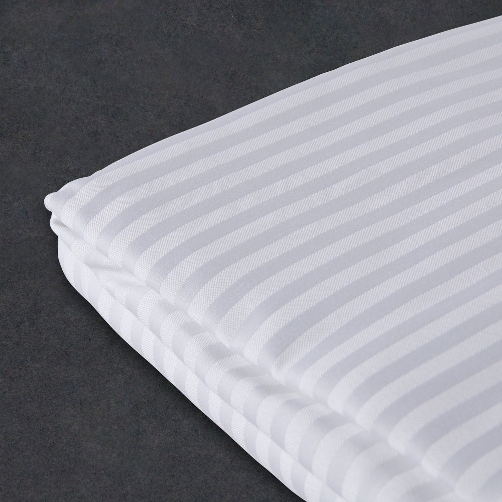 Buy Satin Stripe Duvet Cover 300 Tc White Online In