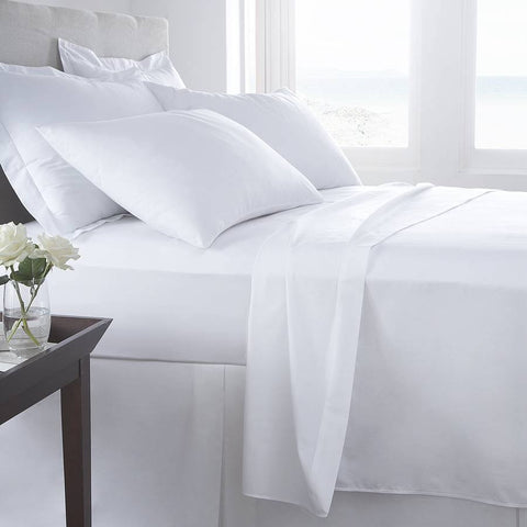Bed Sheet Set White - 200 TC - 1