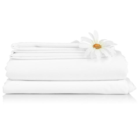 Bed Sheet Set White - 300 TC - 2