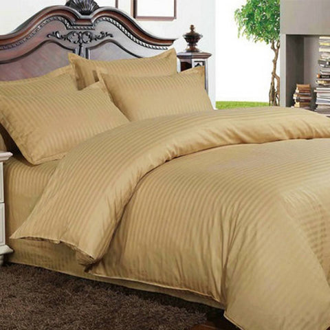 Bed Sheets with Stripes 200 Thread count - Camel - 1