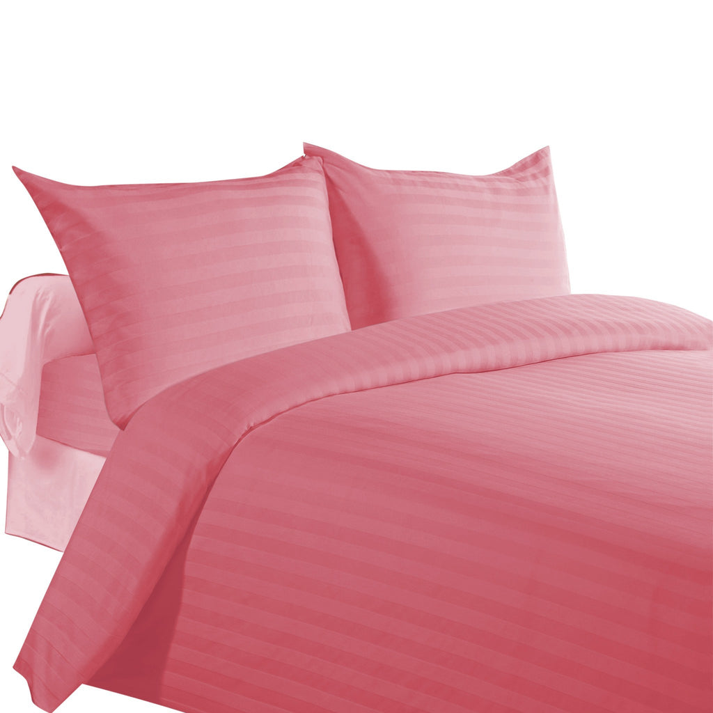 Bed Sheets with Stripes 300 Thread count - Dusty Rose - large - 1