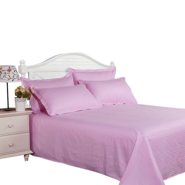 Bed Sheets with Stripes 300 Thread count - Pink - large - 1