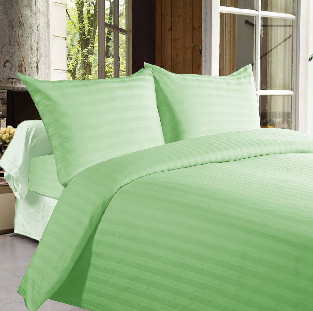 Bed sheets with Stripes 350 Thread count - Green - large - 1
