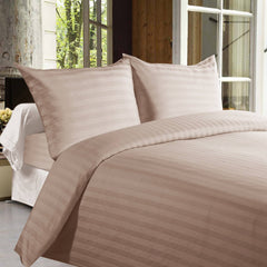 Bed sheets with Stripes 350 Thread count - Light Brown