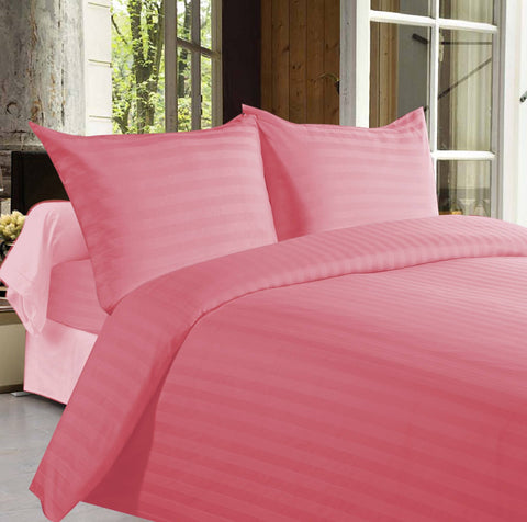Bed sheets with Stripes 350 Thread count - Pink - 1