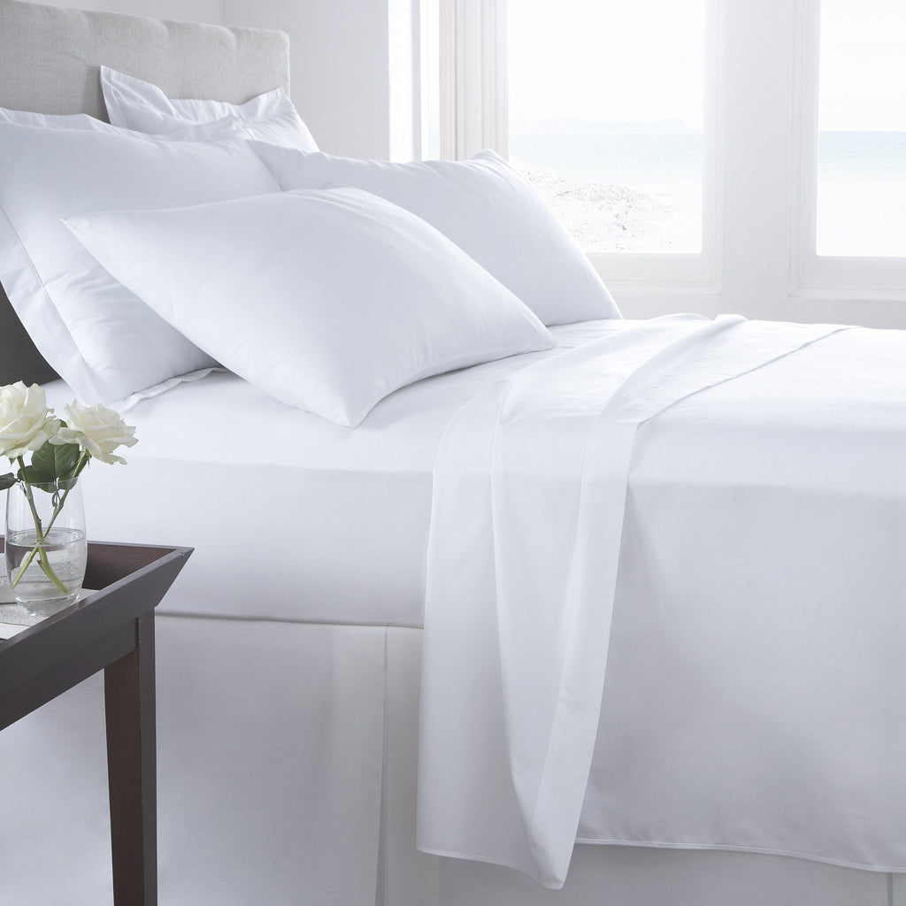 Bon Egyptian Cotton White Sheets   300 Thread Count