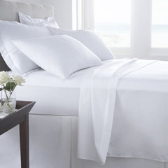 Egyptian Cotton White Sheets - 300 Thread count