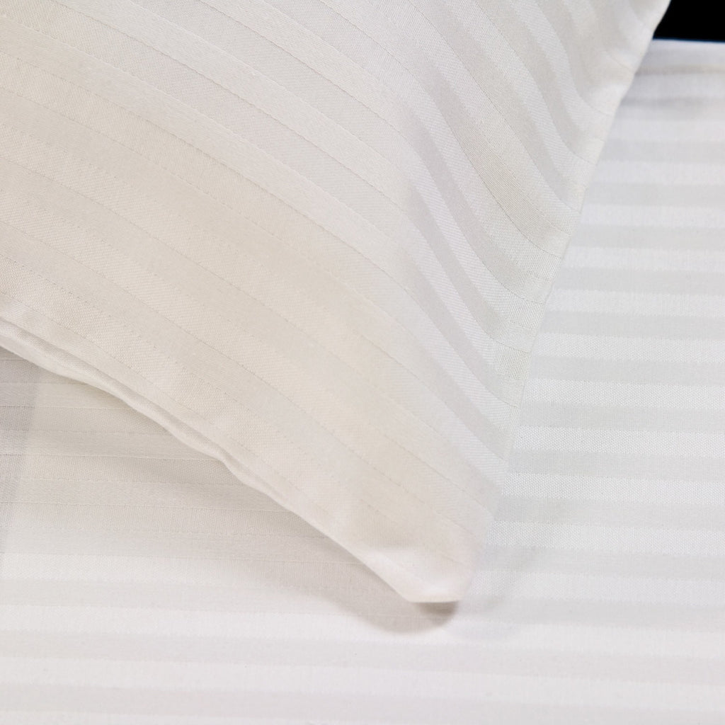 Flat sheets with Satin Stripes - 300 TC White - large - 2