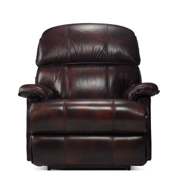 La-Z-boy Electric Leather Recliner - Cardinal - large - 1
