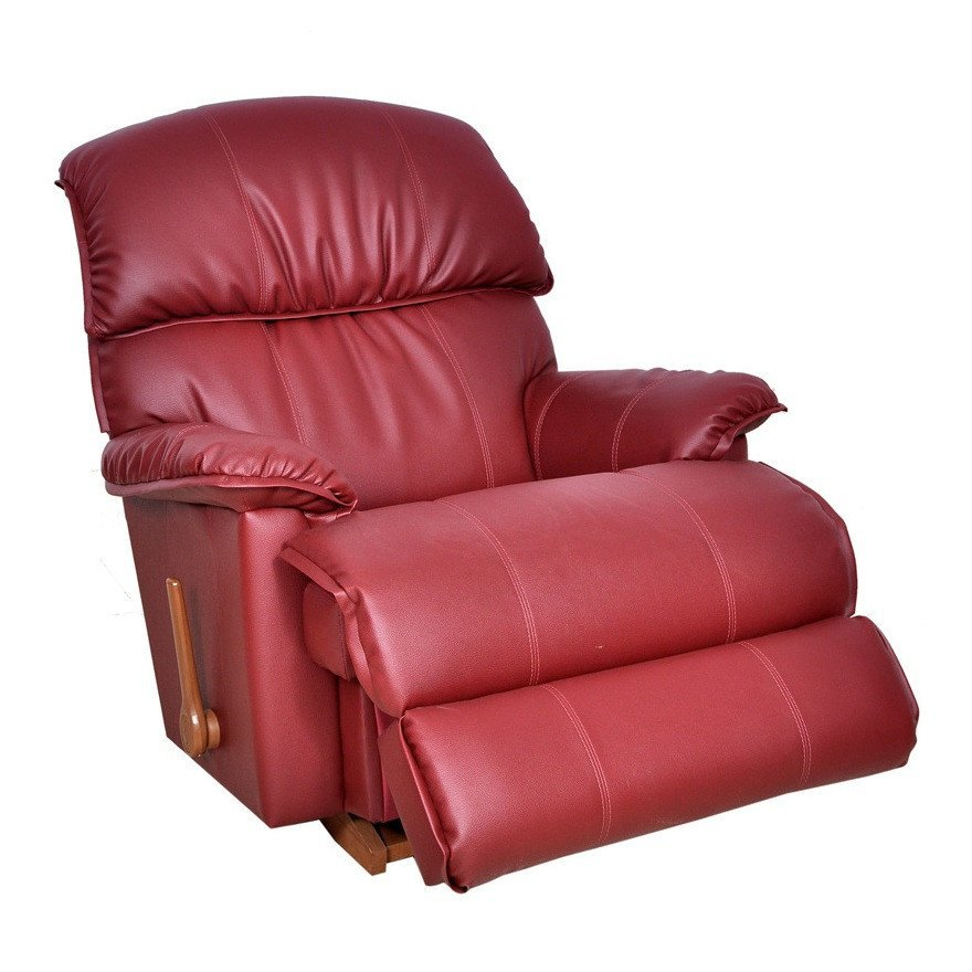 La-Z-boy Leather Recliner Swivel - Cardinal - large - 2