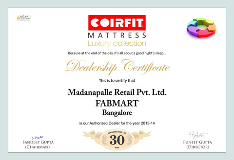 Natural Latex Mattress Biolife - Coirfit - 4