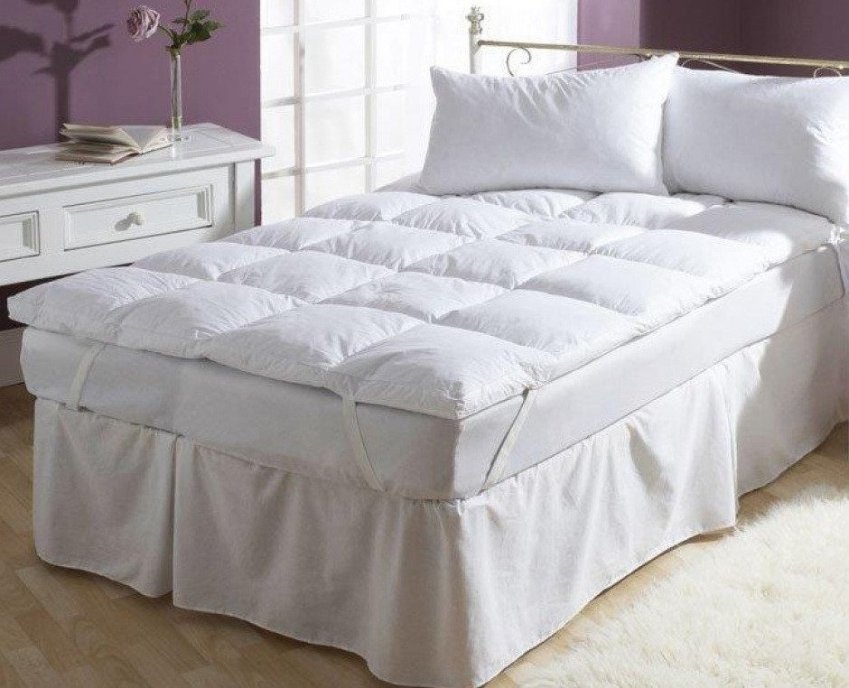 Down Feather Mattress Topper - large - 2