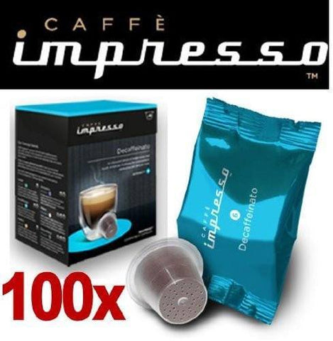 Impresso Coffee Pods Decaffeinato - 100 Pc - 1