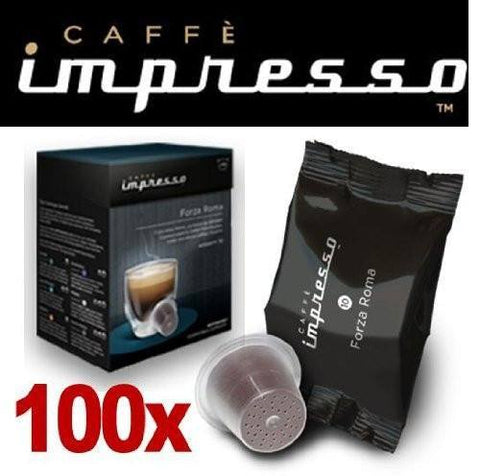 Impresso Coffee Pods Forza Roma - 100 Pc - 1