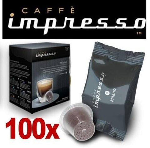 Impresso Coffee Pods Milano - 100 Pc - 1