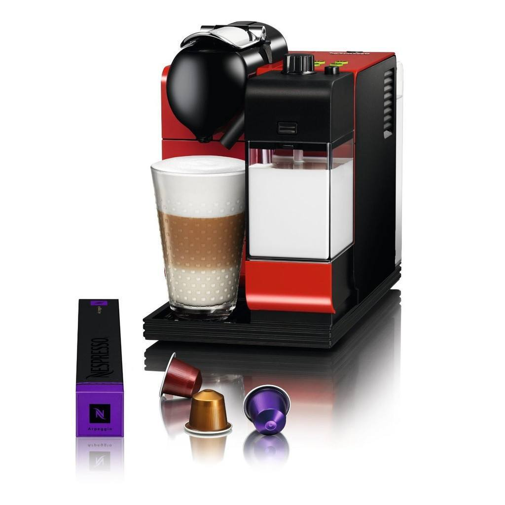 Nespresso Machine Delonghi Lattissima Plus - Red - large - 2