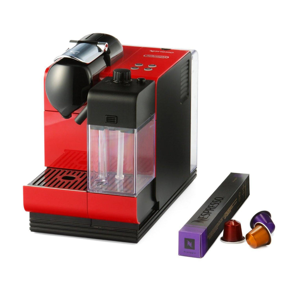 buy nespresso machine delonghi lattissima plus red online in india best prices free shipping. Black Bedroom Furniture Sets. Home Design Ideas