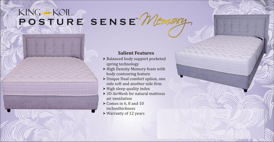 King Koil Memory Foam Mattress with Pocket Spring - Posture Sense - large - 2