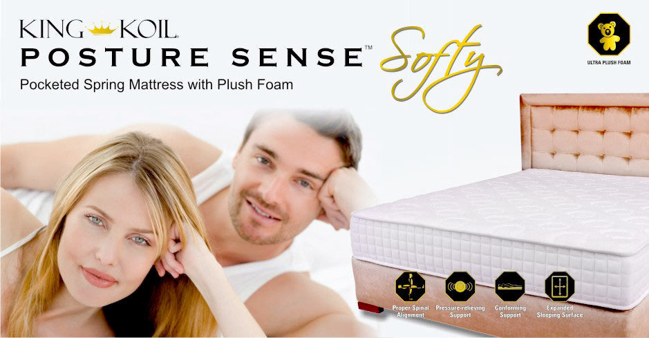 Posture Sense Pocket Spring Mattress - Softy Foam - King Koil - large - 3