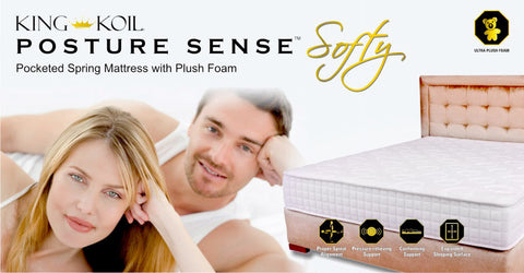 Posture Sense Pocket Spring Mattress - Softy Foam - King Koil - 3