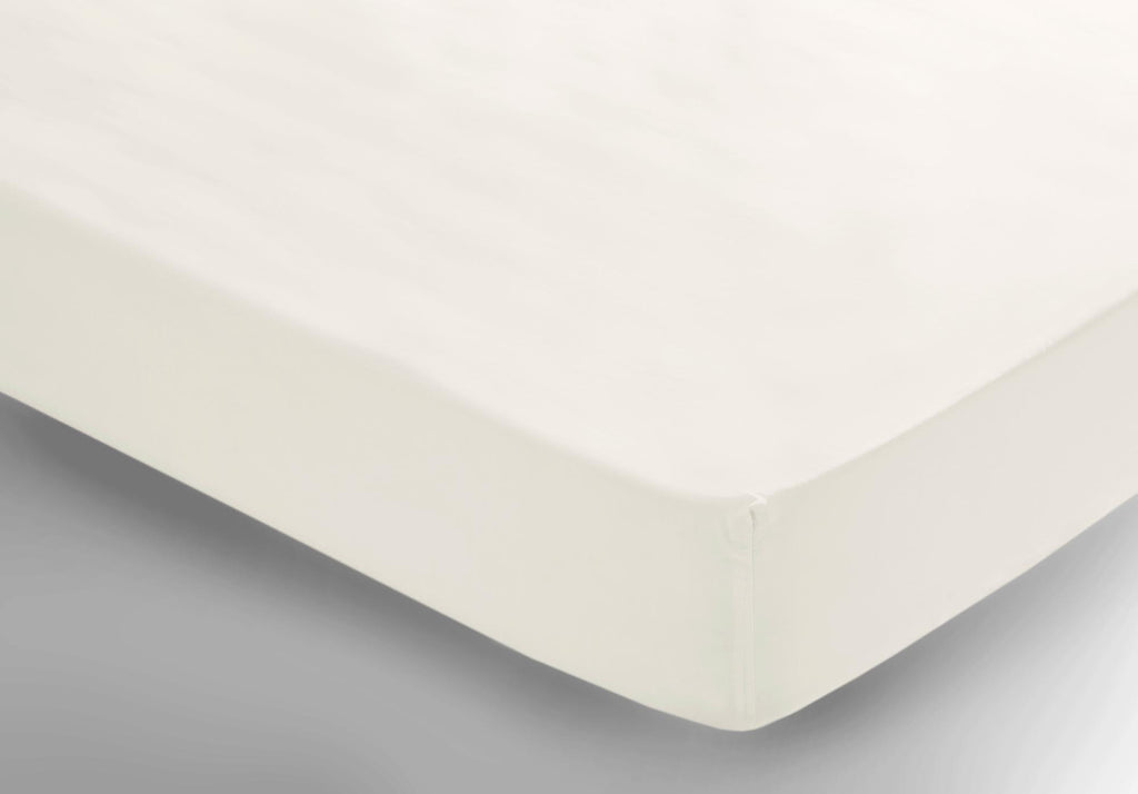 Egyptian Cotton Sheets Fitted White - large - 2