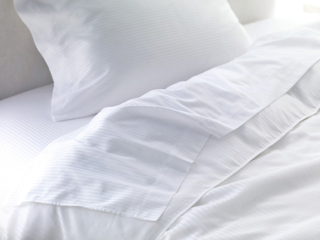 Egyptian Cotton Sheets Fitted White - large - 3