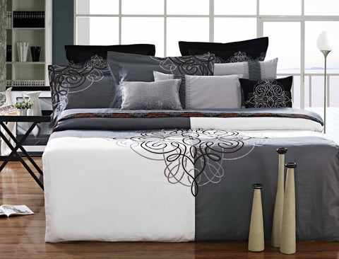 Luxury Bed Sheet Set White Art Collection Nirvana - 1