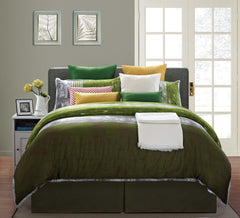 Nirvana Bed Sheet Set Green Serenity