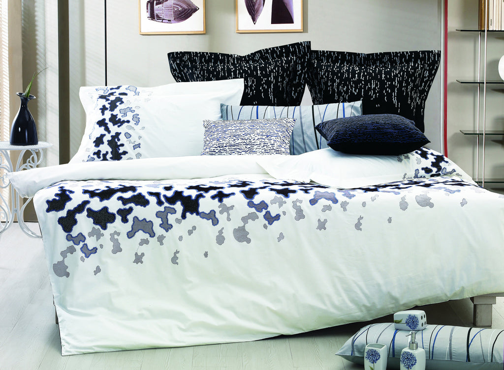 Nirvana Bed Sheet Set White and Black Abstract - large - 1