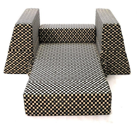 Sofa cum Adjustable Bed Black - Pyramid - 6