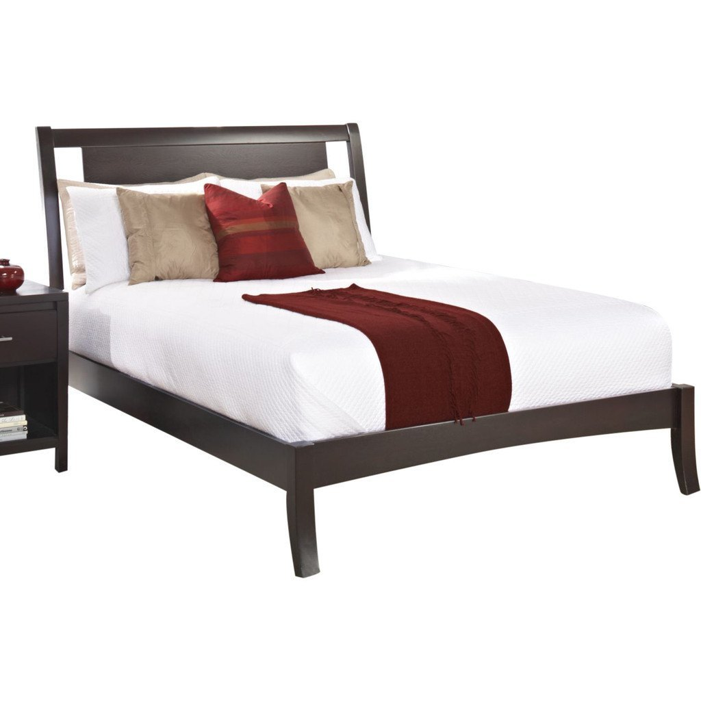 Solid Teak Wood Bed With Headboard - Blois - large - 1
