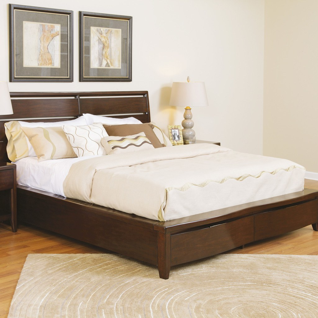 Buy Teak Wood Bed Base Aurillac online in India Best prices