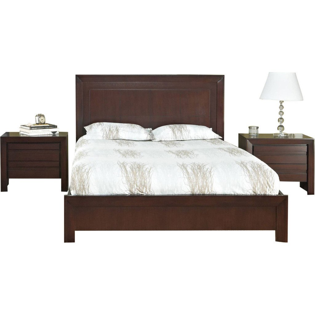 Buy Teak Wood Bed With High Headrest Chaumont Online In India Best Prices Free Shipping