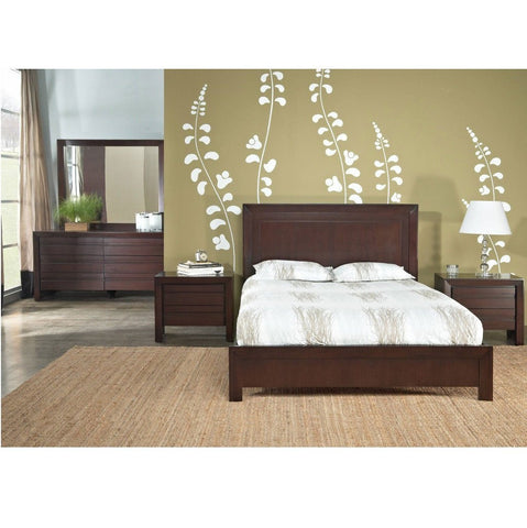 Teak Wood Bed With High Headrest - Chaumont - 3