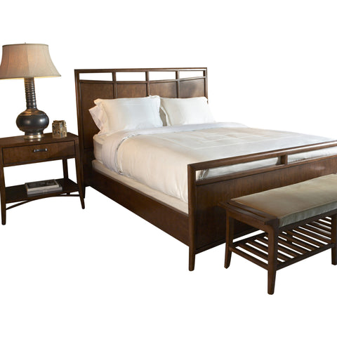 Teak Wood European Bed Set - Figeac - 1