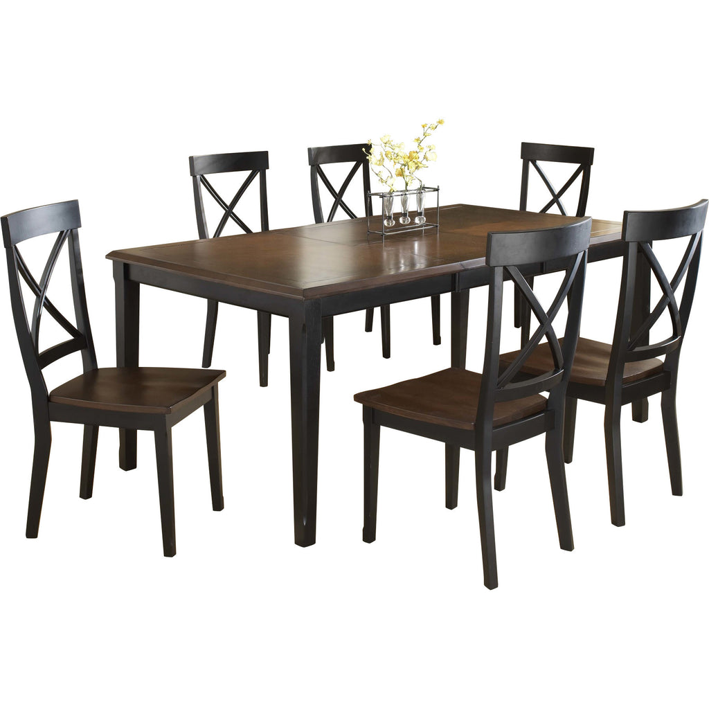 Solid Teak Wood Dining Set - Normandy - large - 1