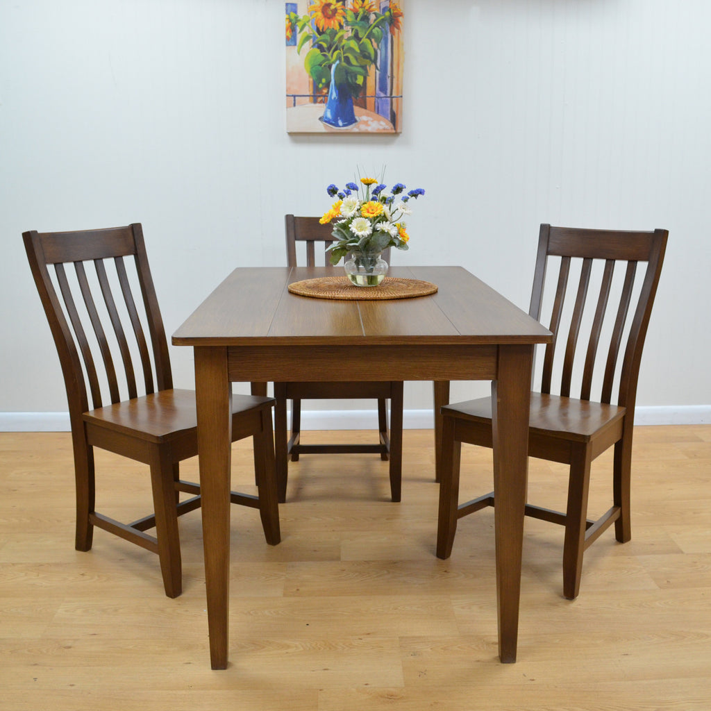 Teak Wood Dining Set - Annecy - large - 2