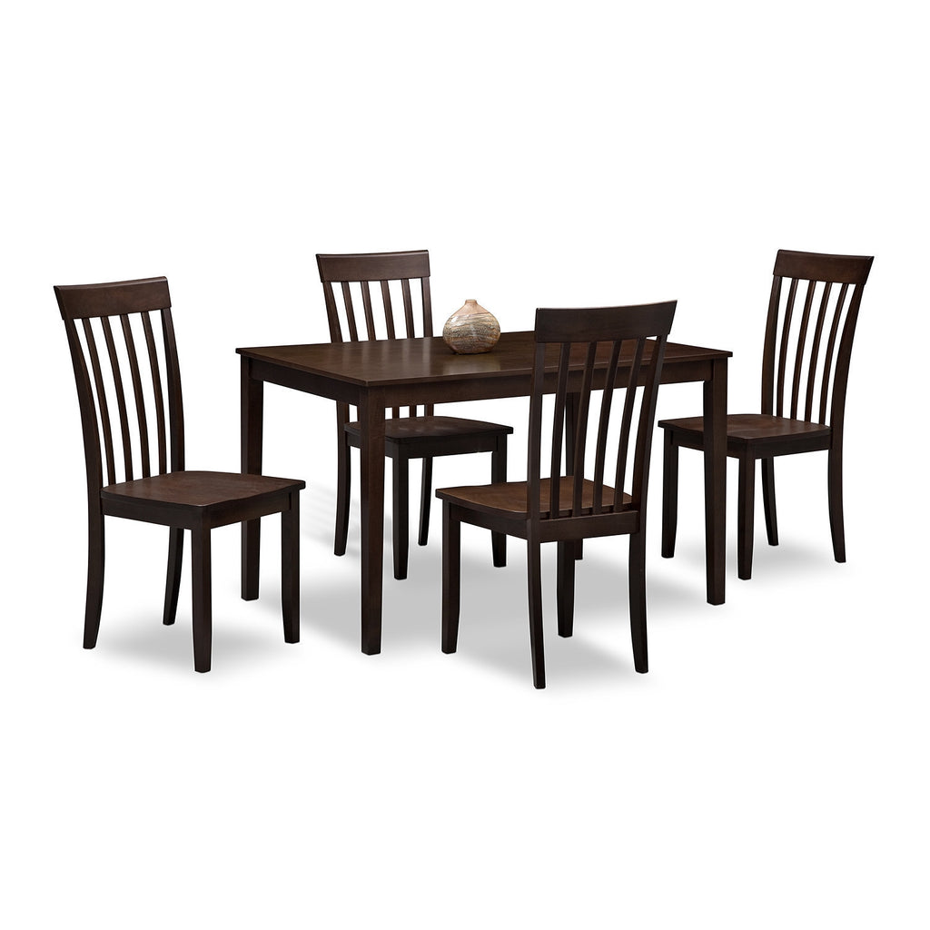 Teak Wood Dining Set - Brittany - large - 1