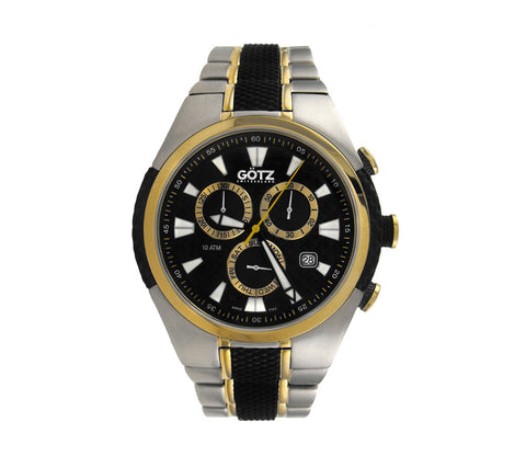 Stainless Steel Chronograph Sport Watch