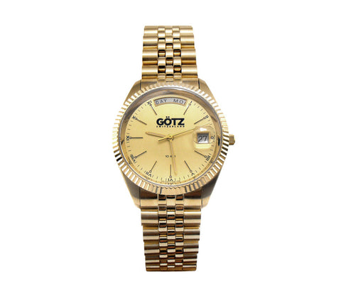 Stainless Steel Gold Plated Watch