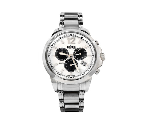 Stainless Steel Chronograph White Watch