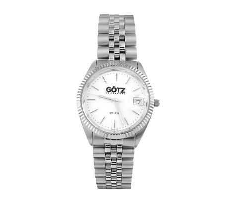 Stainless Steel Sport White Watch