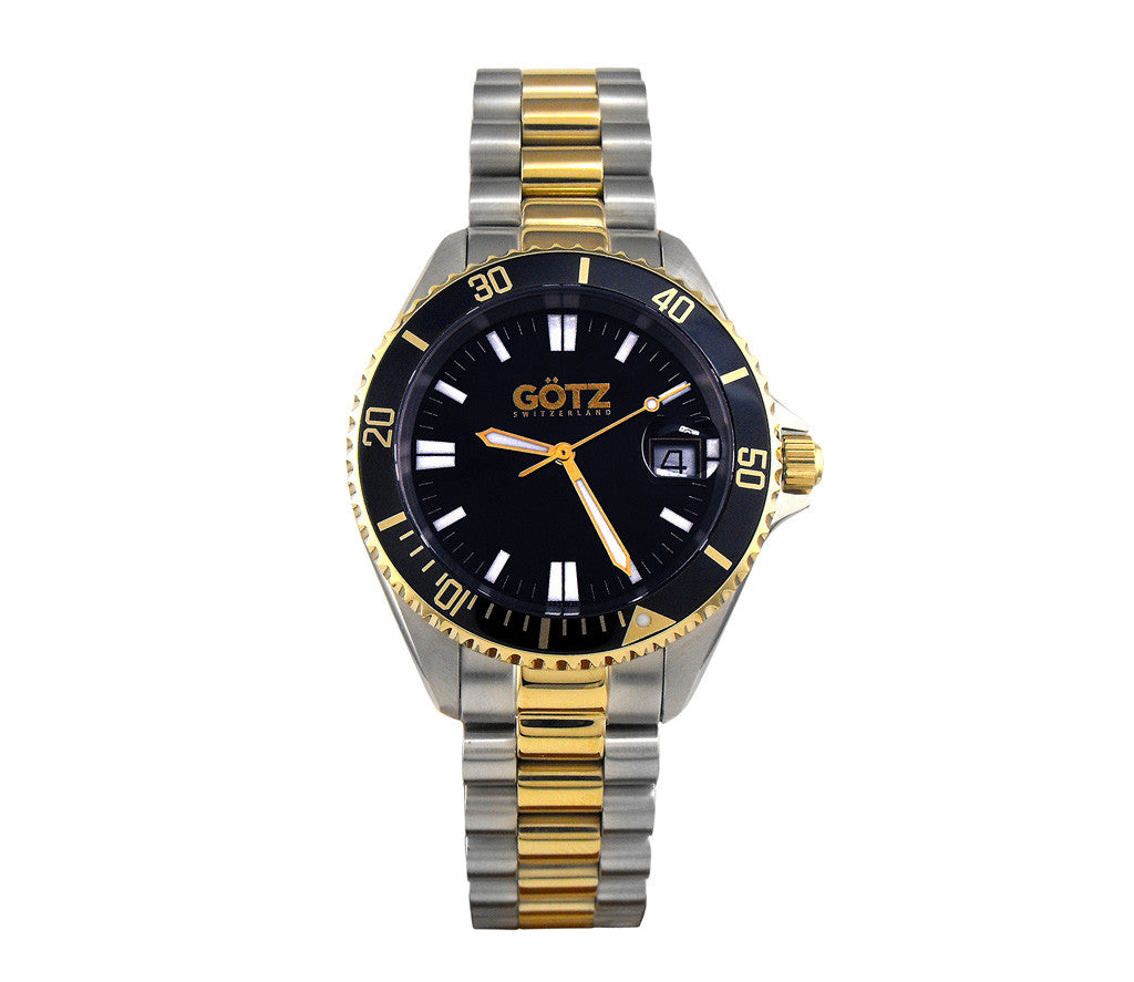 Stainless Steel Blue Dial & Gold Strap Watch