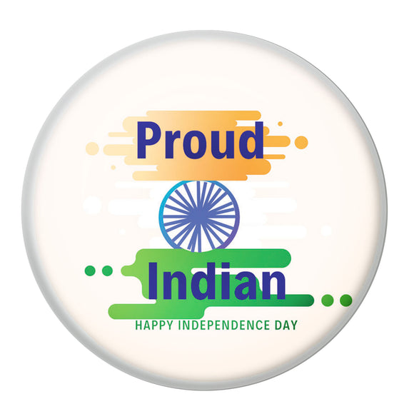 AVI Proud Indian Happy Independence Day Pin Badge